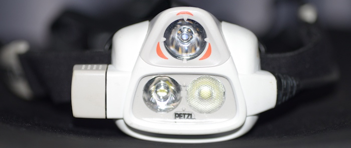 Petzl Nao Headlamp Beams and RLT Sensor