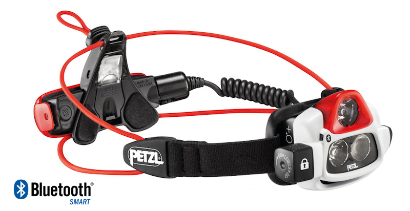 2017 Petzl Nao+ Headlamp is Bluetooth enabled and custom programmable using iPhone or other smartphone.