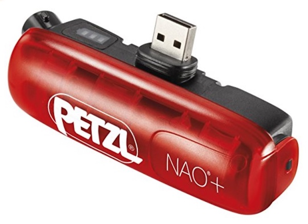 Petzl Nao+ Plus and Nao 3 rechargeable 2600 mAh lithium-ion battery.